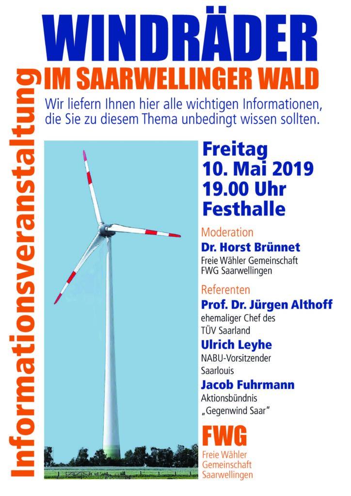 Informationsveranstaltung zum geplanten Windpark Saarwellingen